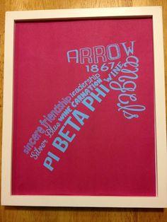 Pi Phi arrow print #piphi #pibetaphi