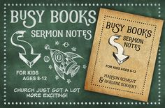 Busy Books: Sermon Notes for Kids - Winners Announced - Time-Warp Wife Positive Marriage Quotes, Marriage Prayer, Childrens Sermons, Sermon Notes, Bible Study For Kids, Christian Resources, Daily Encouragement, Bible Teachings, Books For Boys