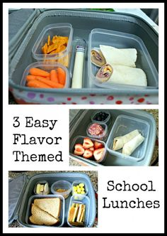 Three easy school lunch ideas based on your kids' favorite flavors.