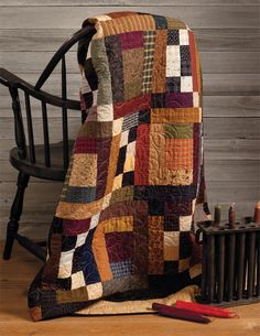 https://flic.kr/p/bWcY4H | Twist and Turn | From: At Home with Country Quilts by Cheryl Wall