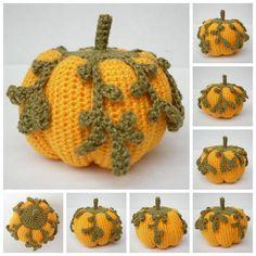 Jumbo Dwarf Crochet Pumpkin pattern on Craftsy.com