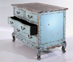 Vecchio Blue komoda z kolekcji Kare Design Kare Design, Komodo, Storage Chest, Designer, Decorative Boxes, Sweet Home, Shabby Chic, Woodworking, House Design