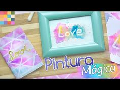 Pintura Mágica | Quadro e Caderno DIY - YouTube