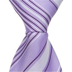 Matching Tie Guy 2527 L3 - 9.5 in. Zipper Necktie - Purple With Dark & Light Stripes, 6 to 18 Month, Infant Boy's, As Shown