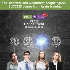 Free Online Event: What do the worlds top #brain scientists know about your income? A lot more than youd think. Learn about the strange connection between your brain and your income at @neurogyms ALL NEW 6th Annual Live #BrainAThon. Tap the link in my bio to register. #braingains #success #goals #neuroscience