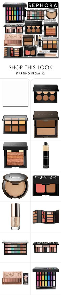 """Things I Need From Sephora"" by emmy-124fashions ❤ liked on Polyvore featuring beauty, Anastasia Beverly Hills, Becca, Bobbi Brown Cosmetics, Sephora Collection, NARS Cosmetics, Josie Maran, Kat Von D, Urban Decay and Too Faced Cosmetics"