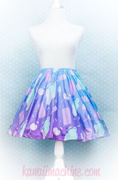 Sugar Pop Novelty Ice Cream Printed Skater by thekawaiimachine
