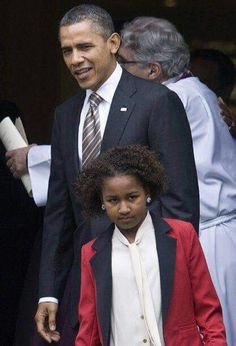 Obamas: Father & Daughter
