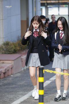 206 best school uniform fashion images in 2019 Best School Uniform, School Uniform Outfits, Japanese School Uniform, School Girl Outfit, Jeon Somi, 1940s Fashion, Girl Fashion, Fashion Outfits, Korean Girl