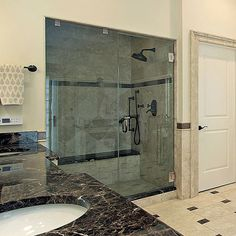 Stop by Dulles Glass and Mirror today to find replacement glass for any size shower doors you might need! See our website for the types of glass, thickness and measurements you need. Frameless Shower Doors, Glass Shower Doors, Glass Showers, Corner Shower Doors, Shower Door Hardware, Barnyard Door, Glass Shower Enclosures, Glass Replacement, Grey Glass