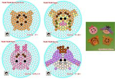 TSUM-TSUM-winnie-the-pooh Perler Bead Templates, Pearler Bead Patterns, Perler Patterns, Hama Beads Disney, Pearl Beads Pattern, Pony Bead Crafts, Peler Beads, Tsumtsum, Beads Pictures