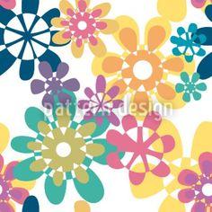 Hochqualitative Vektor-Muster auf patterndesigns.com - Grafische-Blumen, designed by Christina Wasenegger