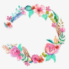 Beautiful wreath, Flower, Wreath, Green PNG Image