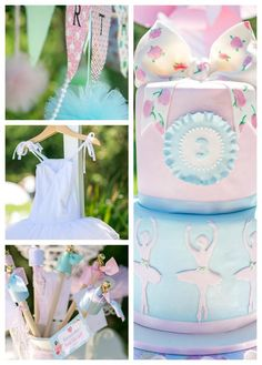 Ballerina Birthday Party with TONS of great ideas! Found via KarasPartyIdeas.com #ballet #princess #party #idea #supplies