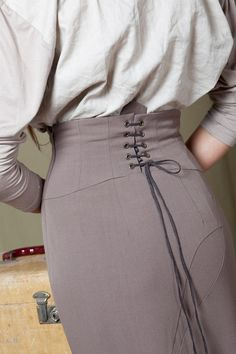 Laced up pencil skirt