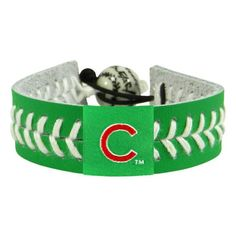 Chicago Cubs St. Patrick's Day Baseball Bracelet