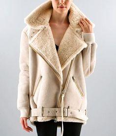 Acne Velocite oversized shearling jacket