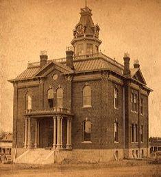 First Prescott Courthouse, circa 1885