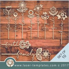 laser cut word flower templates online store free vector downloads .