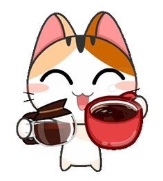 Gojill The Meow Animated Cute Cartoon Images, Cartoon Gifs, Cute Love Gif, Cute Cat Gif, Gif Animé, Animated Gif, Animated Emoticons, Kawaii Drawings, Cute Drawings