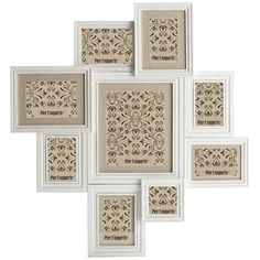 Take a quick trip down memory lane with our 9-opening wall collage frame. It's a…