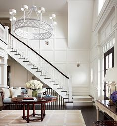 whats not to love about this space-the floors, light, paneling, rug....