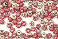 TOHO 6/0 Round Beads - HYBRID Frosted Pepper Red Apollo [TR-06-Y854F]