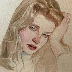 Reina Yamada is an artist who works actively in Japan and is the author of many works of watercolor art. The re-adaptation of watercolor paint. Watercolor Portraits, Watercolor Paintings, Watercolour, Painting Portraits, Painting Art, Art Sketches, Art Drawings, Arte Sketchbook, Portrait Art