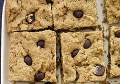 Healthy Peanut Butter Chocolate-Chip Bars