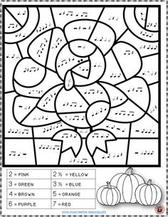 6 Free Thanksgiving Addition Coloring Worksheets Thanksgiving Music 26 Thanksgiving Music Coloring Pages Music Lessons For Kids, Music Lesson Plans, Piano Lessons, Middle School Music, Music Worksheets, Coloring Worksheets, Music Activities, Movement Activities, Music Classroom