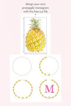 Design your own pineapple monogram - Maritza Lisa - diy - tutorial - free cut file -  paper goods - paper craft - stationery