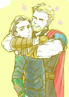 Thor and Loki Thor X Loki, Marvel Dc Comics, Marvel Avengers, Loki Fan Art, The Avengers, Marvel Couples, Deadpool, Spiderman, Memes
