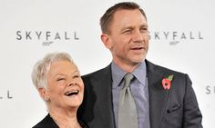 "Daniel Craig and Dame Judi Dench at the (""Skyfall"")  press conference"