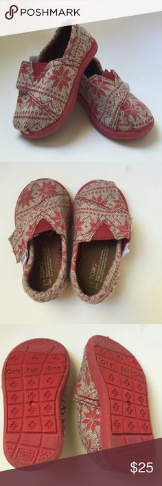 Toms kids size 3 Toms kids size 3, only worn maybe twice when my daughter didn't even walk yet. Like new condition. Toms Shoes Baby & Walker