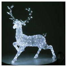 3c75c815d95 Veado Luminoso 300 LED Branco Frio Exterior Interior  luzesdenatal   piscapisca  luznatal