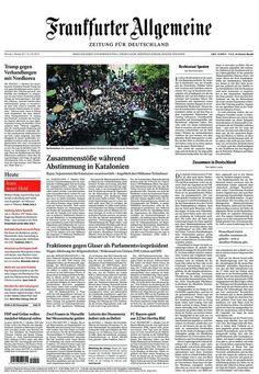 La prensa internacional lleva a sus portadas las cargas policiales en Catalunya