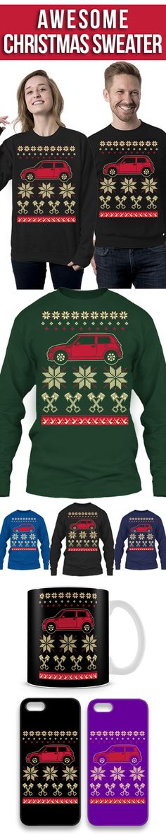 Mini Cooper Ugly Christmas Sweater! Click The Image To Buy It Now or Tag Someone You Want To Buy This For. #minicooper
