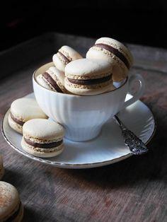 Macarons, Nutella, Fika, Mocca, Kaffe, Tea Cups, Cookies, Eat, Breakfast