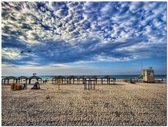 Perfect Skies At The Beach in Tel Aviv, Israel...Everyday In Summer Is Perfection Since There Is Never Rain In Summer.