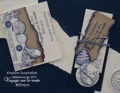 Labels, Nautical Theme, Diy Cards, Different Colors, Seaside, Stamping, Card Ideas, Fishing, Greeting Cards