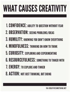 """What causes creativity?""  #edchat #leadership #tlchat #creativity #innovation #entrepreneur #edtech #artsed #startup"
