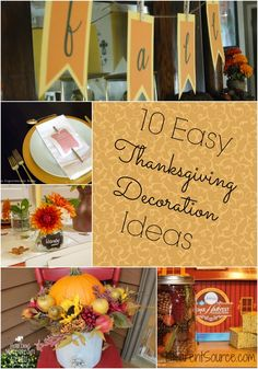 10 Great (and Easy) Thanksgiving Decorating Ideas