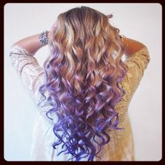 I love the curls. This has GOT to be a perm. I've never seen curls like this before. They're big and perfect.