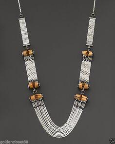 b861cef425e GUCCI Silver Bamboo Necklace New with Box  Gucci