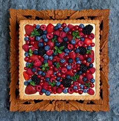 Blanche - a berry tart from my cookbook, named after Blanche Devereaux of The Golden Girls!