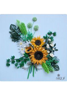 Summer breeze 石川 明子 - Botanical Quilling Japan