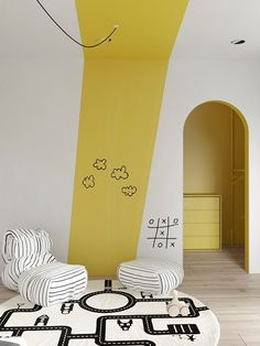 5 Cool Kids Rooms - La Petite The Coolest Kids Rooms - - We're loving these 5 cool kids rooms. These incredible kids rooms are sure to give you lots of great innovative ideas for decorating your own kid's space. Nursery Room, Boy Room, Kids Bedroom, Girl Nursery, Interior Room, Interior Design Living Room, Interior Modern, Colorful Interior Design, Arch Interior