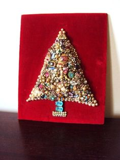 Vintage - Jewelry Christmas Tree Find Everything you need to re-create this look at Sleepy Poet Antique Mall!