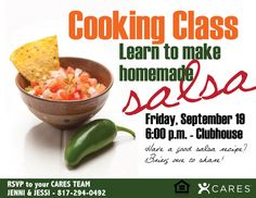 Cooking Class - salsa