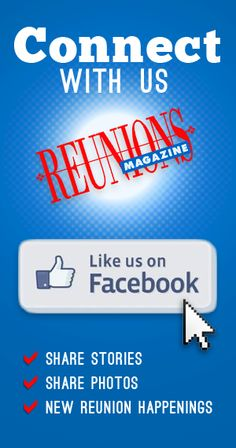 Connect with Reunions magazine on Facebook! Share stories, share photos, and discover new reunion happenings! Share Photos, Reunions, T Shirt Diy, Happenings, Free Stuff, Planners, Connect, Magazine, Shit Happens